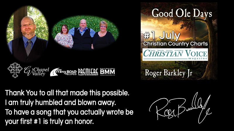 Good Ole Days reaches #1 for July 2017 Christian Voice Magazine