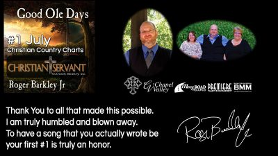 Good Ole Days reaches #1 for July 2017 Christian Servant Magazine